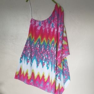 INC Multicolor one shoulder top